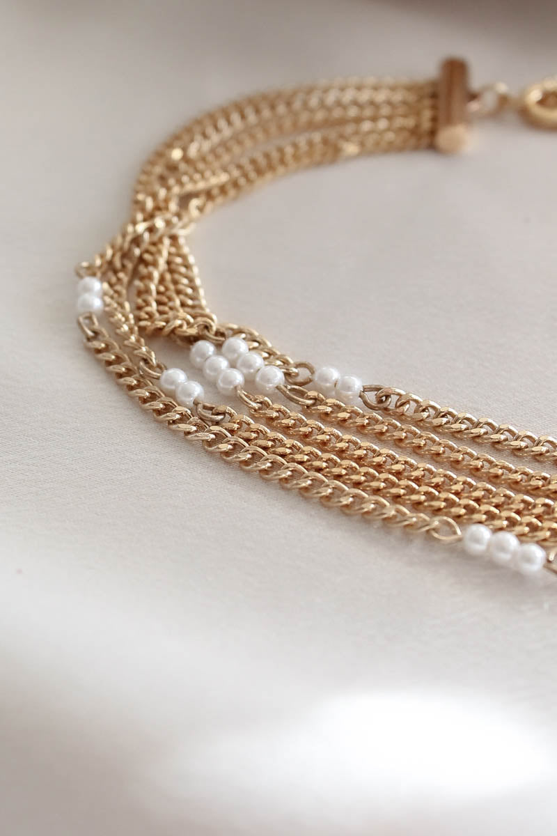 Ettika Gold & Pearl Layered Necklace