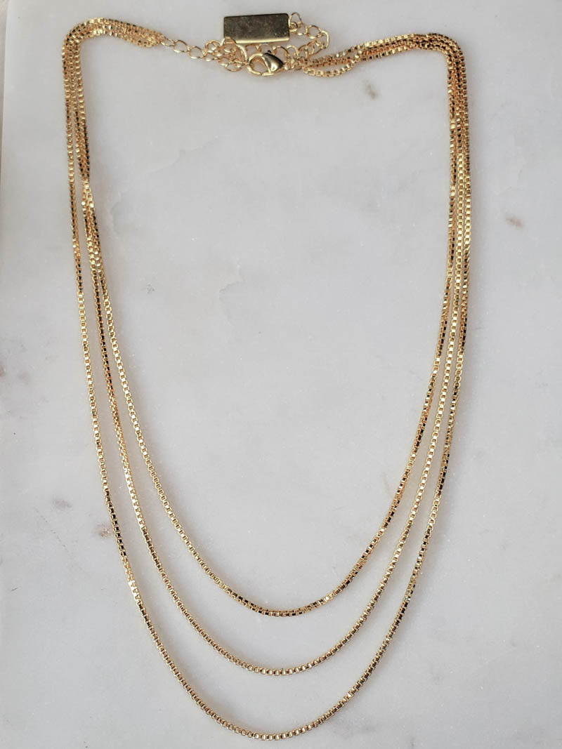 GIRLS CREW . CUBED LAYERED NECKLACE
