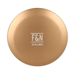 Illuminating Compact Mirror + Portable Phone Charger in Gold by Fifth and Ninth