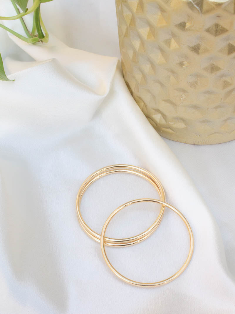 Gold Bangles by Harper Made