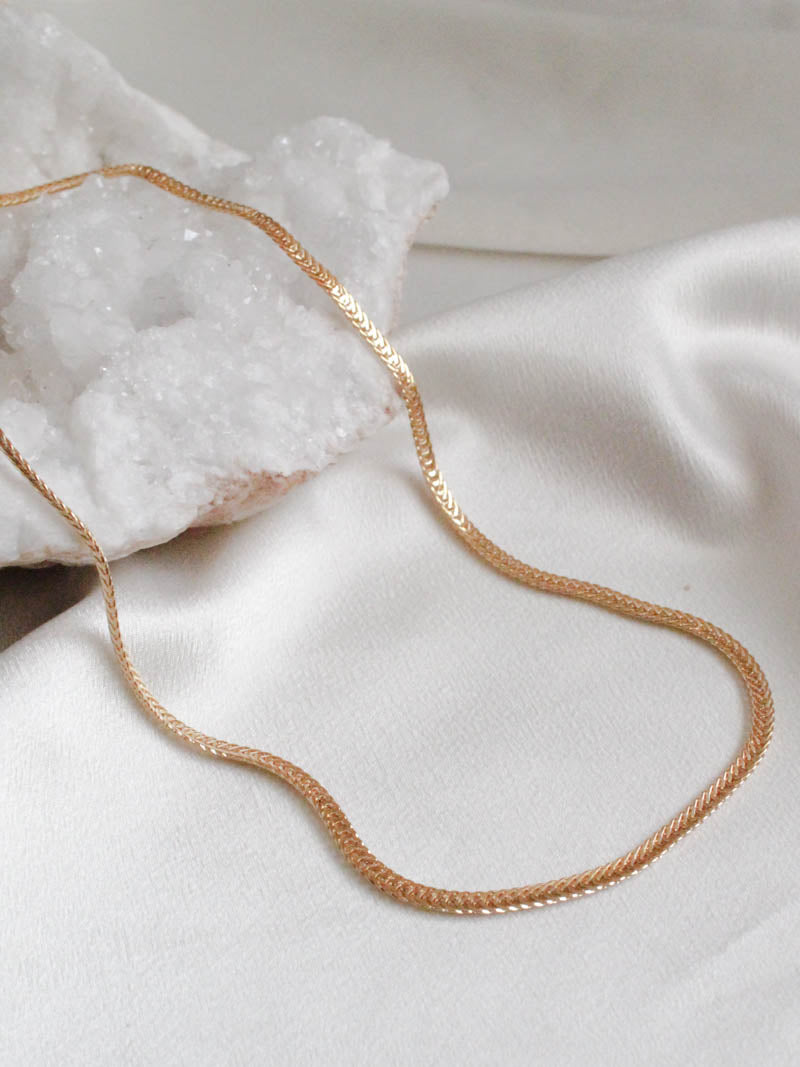 Gold Braided Herringbone Chain by Jonesy Woods