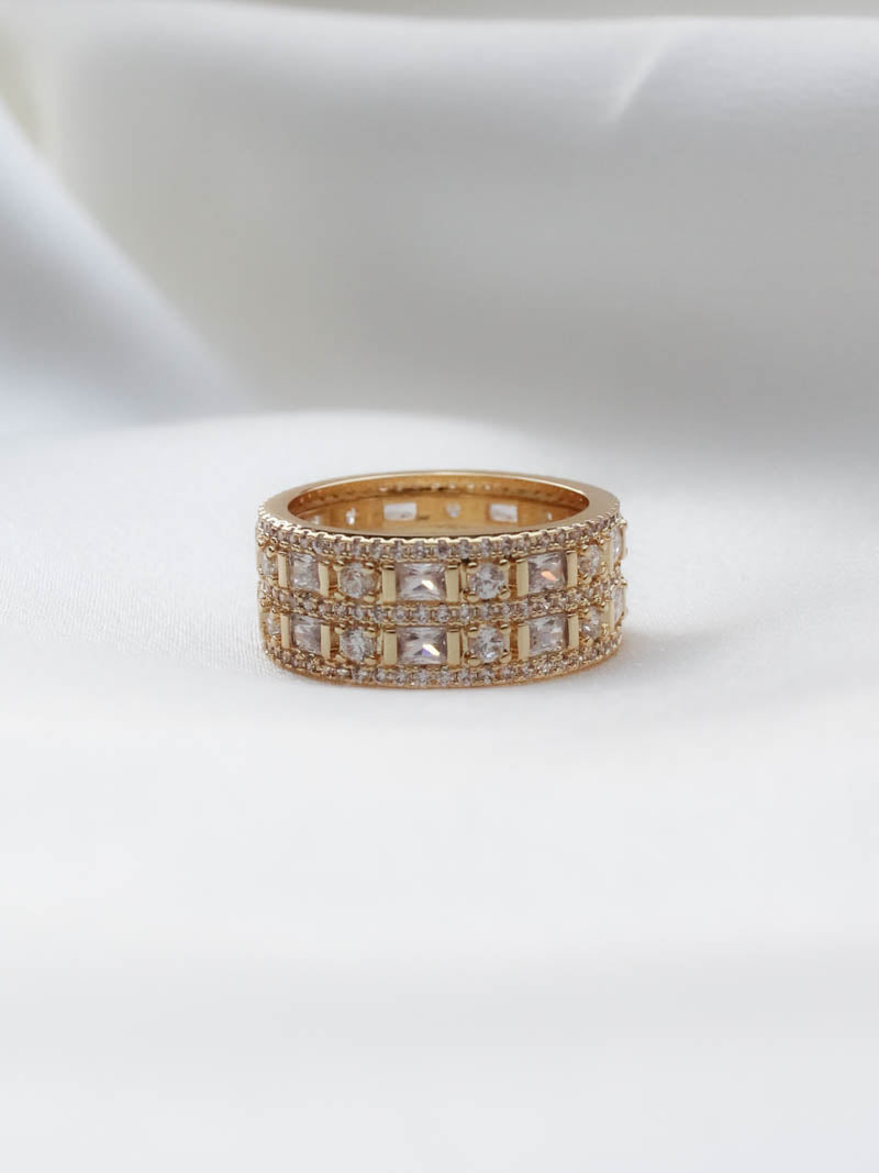 GOLD ANTOINETTE RING - LUV AJ