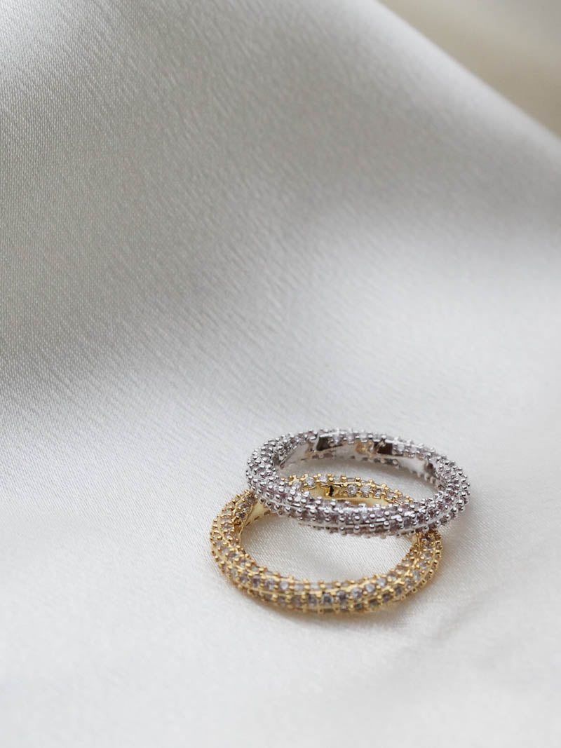 LUV AJ PAVE TWISTED RING