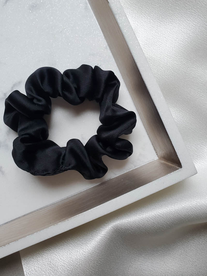 Black Silk Scrunchie by I'm With The Band