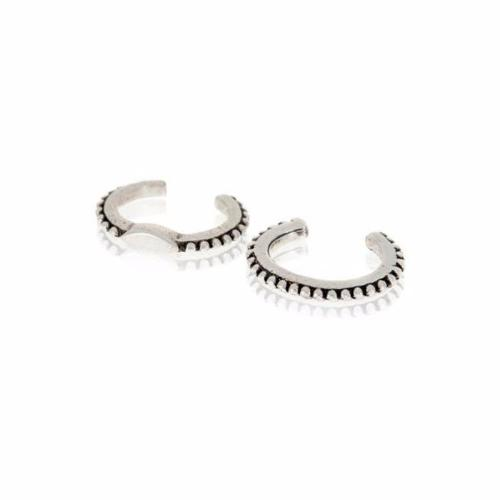 Silver Marquise Ear Cuffs by Luv AJ