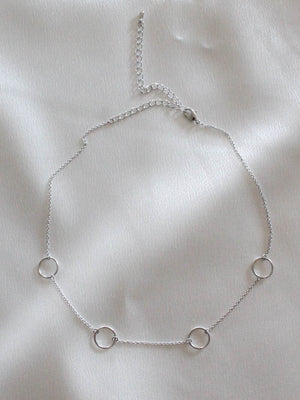 Silver Max Choker Necklace by Five And two