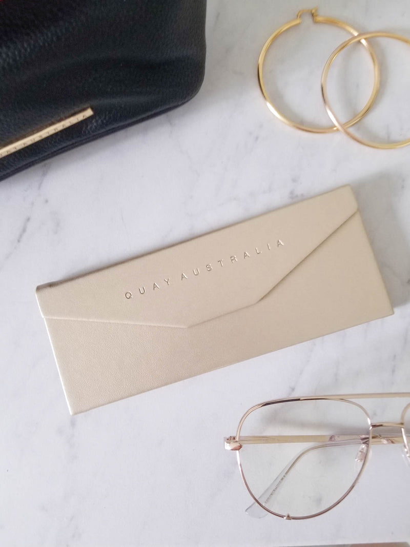 Gold Embossed Tri Fold Case by Quay Australia