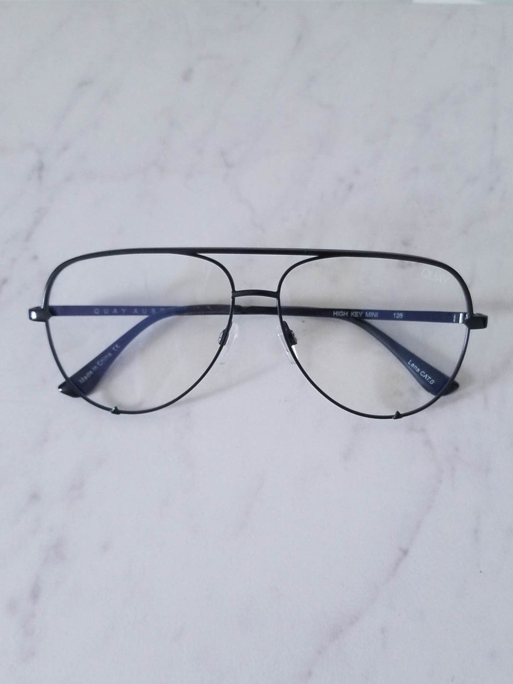 QUAY AUSTRALIA . HIGH KEY MINI BLUE LIGHT GLASSES