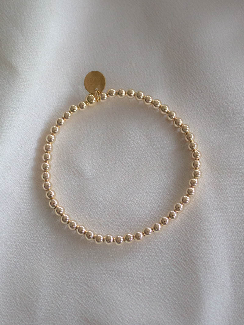 STUD MUFFIN BOSTON . GOLD FILLED BEADED BRACELET