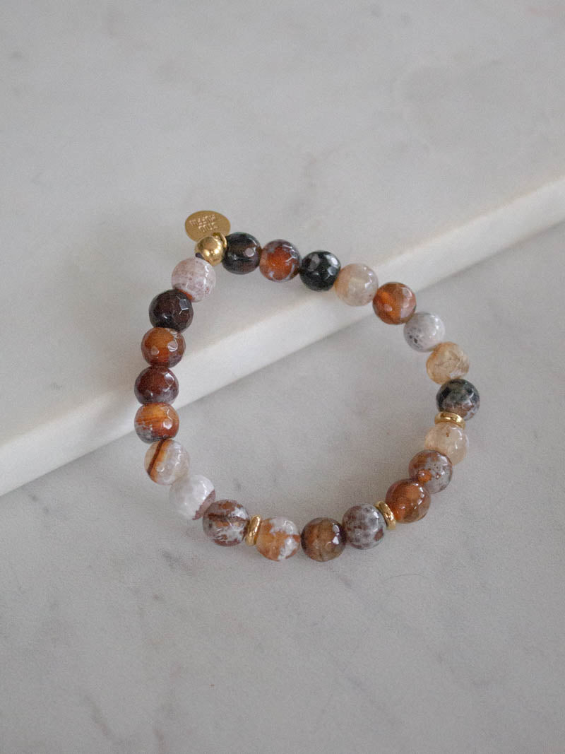 Stud Muffin Boston Fire Agate Gemstone Bracelet