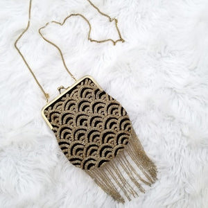 Black and Gold Sienna Clutch - From St Xavier