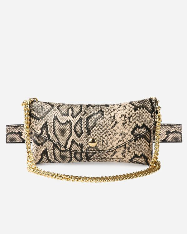 The Casery Snakeskin Waisted Convertible Bag