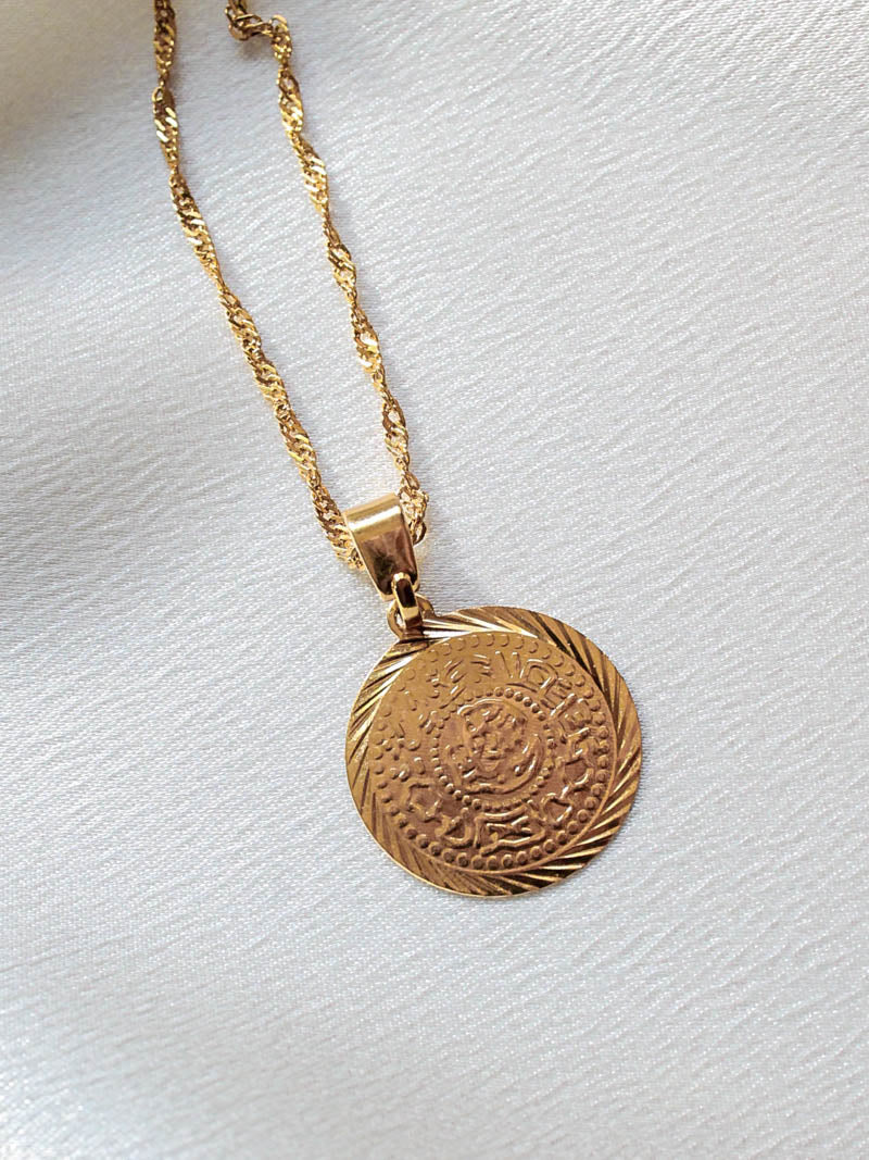 Vibe Szn Gold Coin Necklace