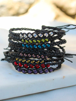 Black Hemp Wish Bracelet | The Obcessory