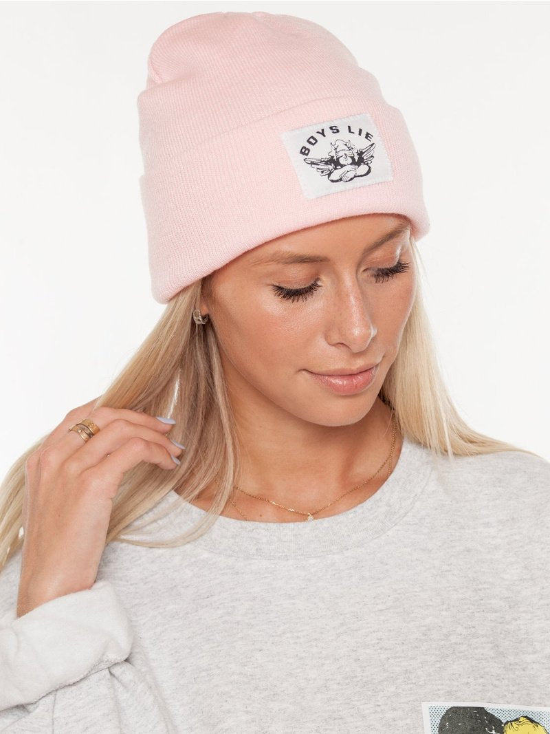 Boys Lie Beanie in Baby Pink