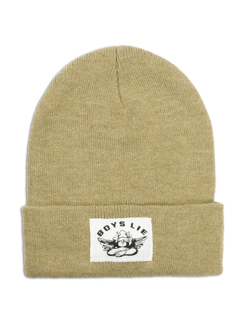 Boys Lie Beanie in Camel