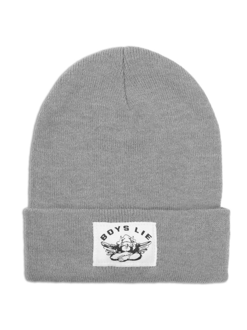 Boys Lie Beanie in Grey