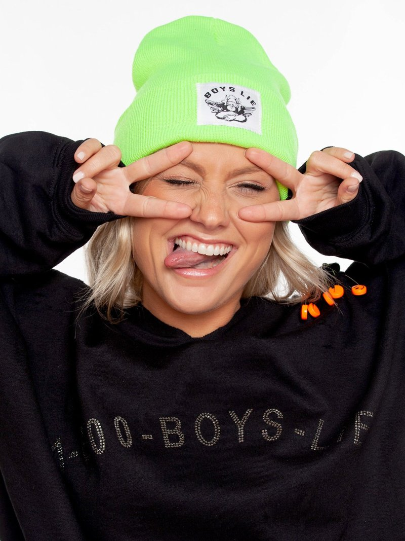 Boys Lie Beanie in Neon Green
