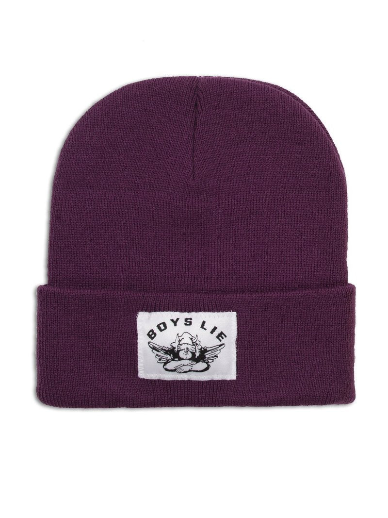 Boys Lie Beanie in Purple