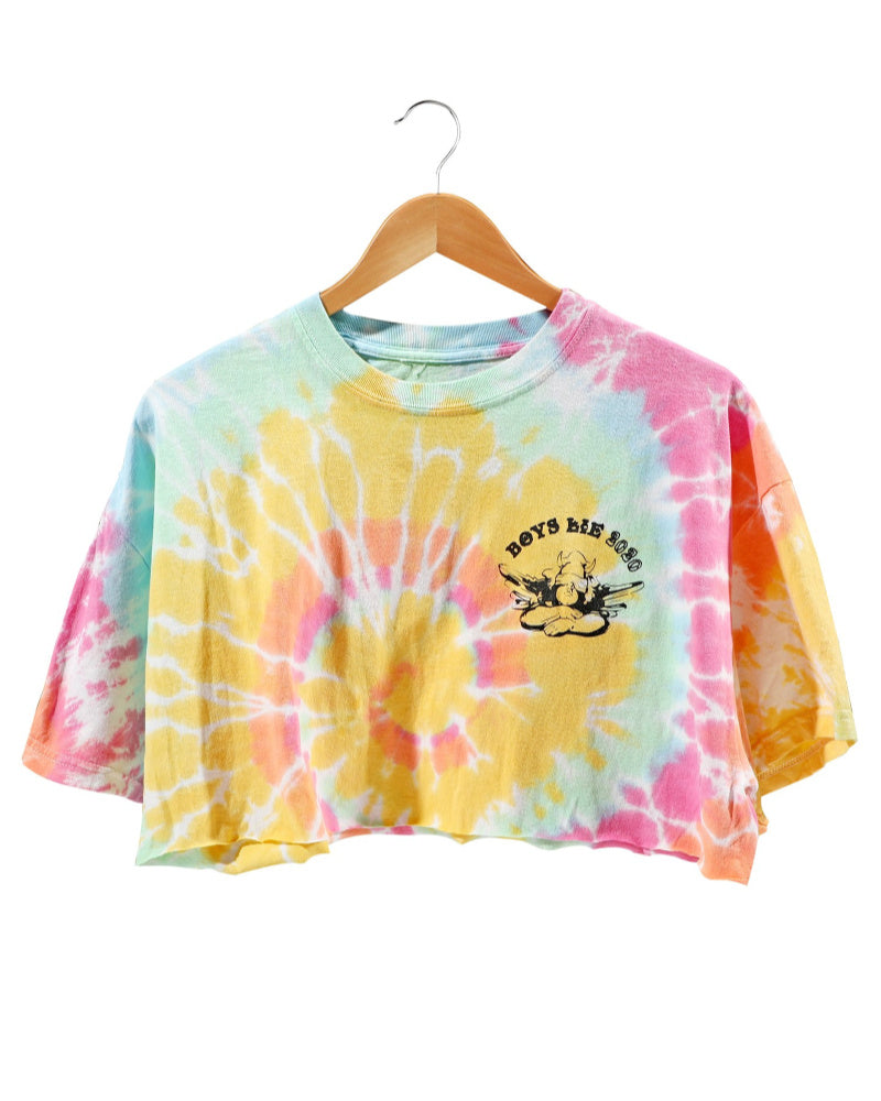Boys Lie Tie Dye Cropped Tee