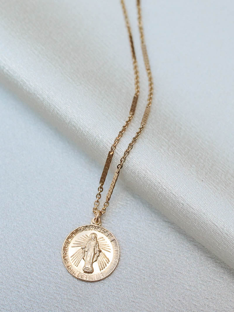 Gold Filled Mary Necklace