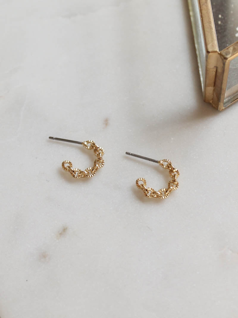 Petite Huggie Hoop Earrings by five and two