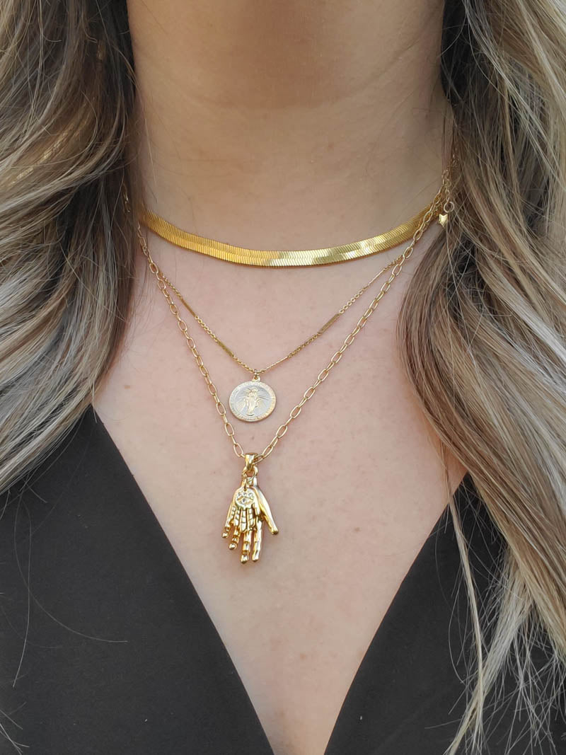 GOLD LAYERED NECKLACES AT THE OBCESSORY