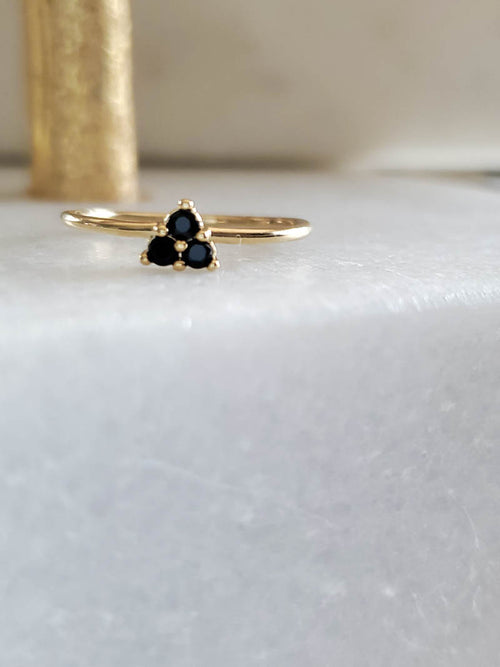 five and two Jude Ring in Onyx