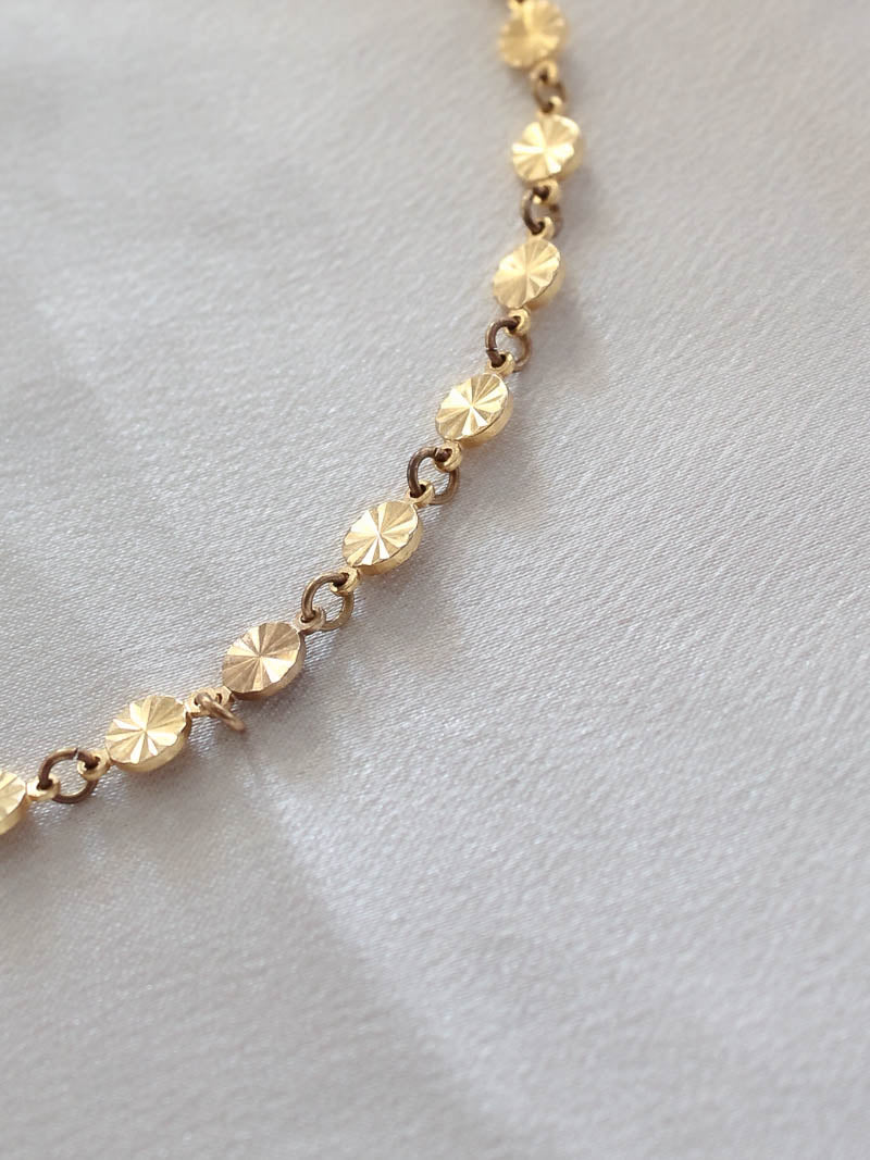 Gold Disc Choker . Frasier Sterling