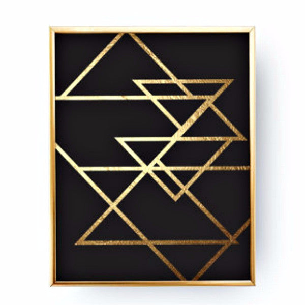 Black Geometric Wall Print