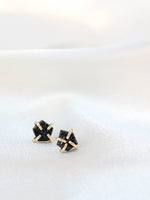 Black Druzy Stud | JaxKelly