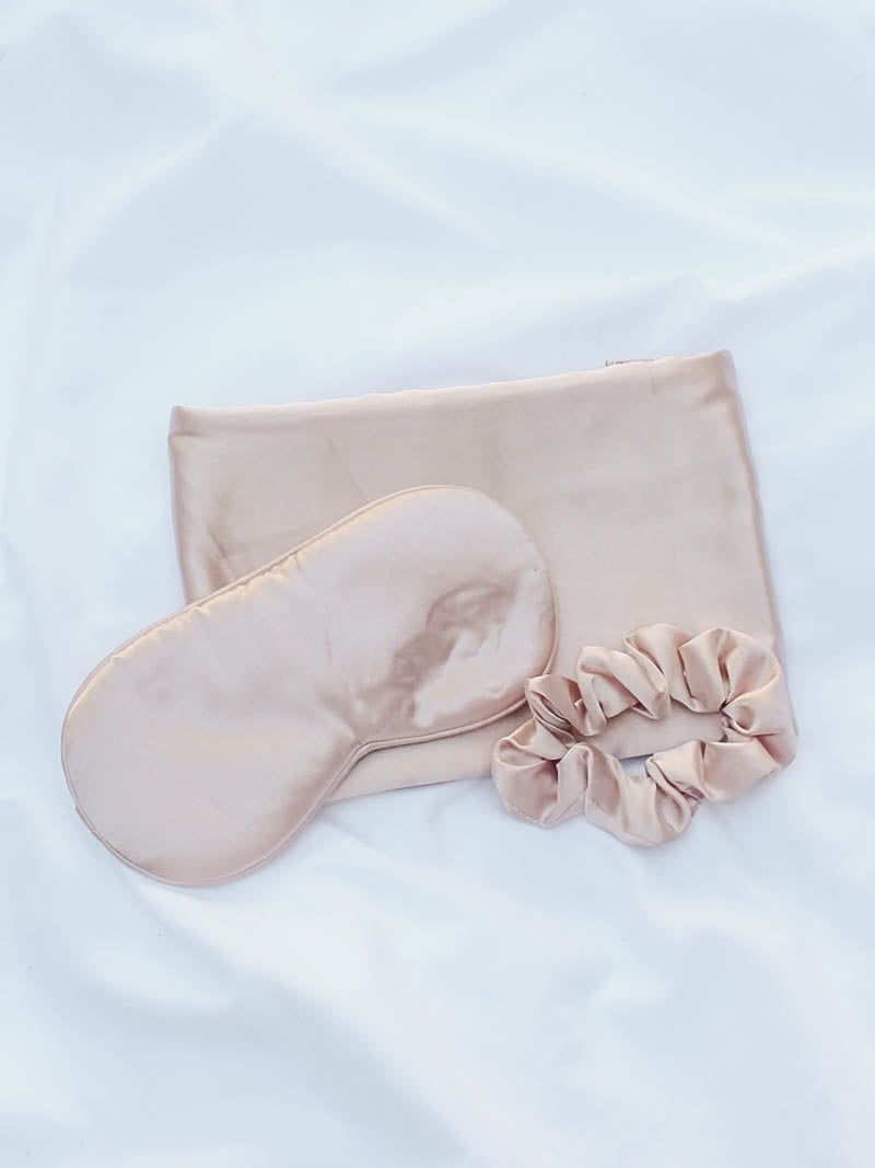 Blush Satin Sleep Set by Kitsch at The Obcessory