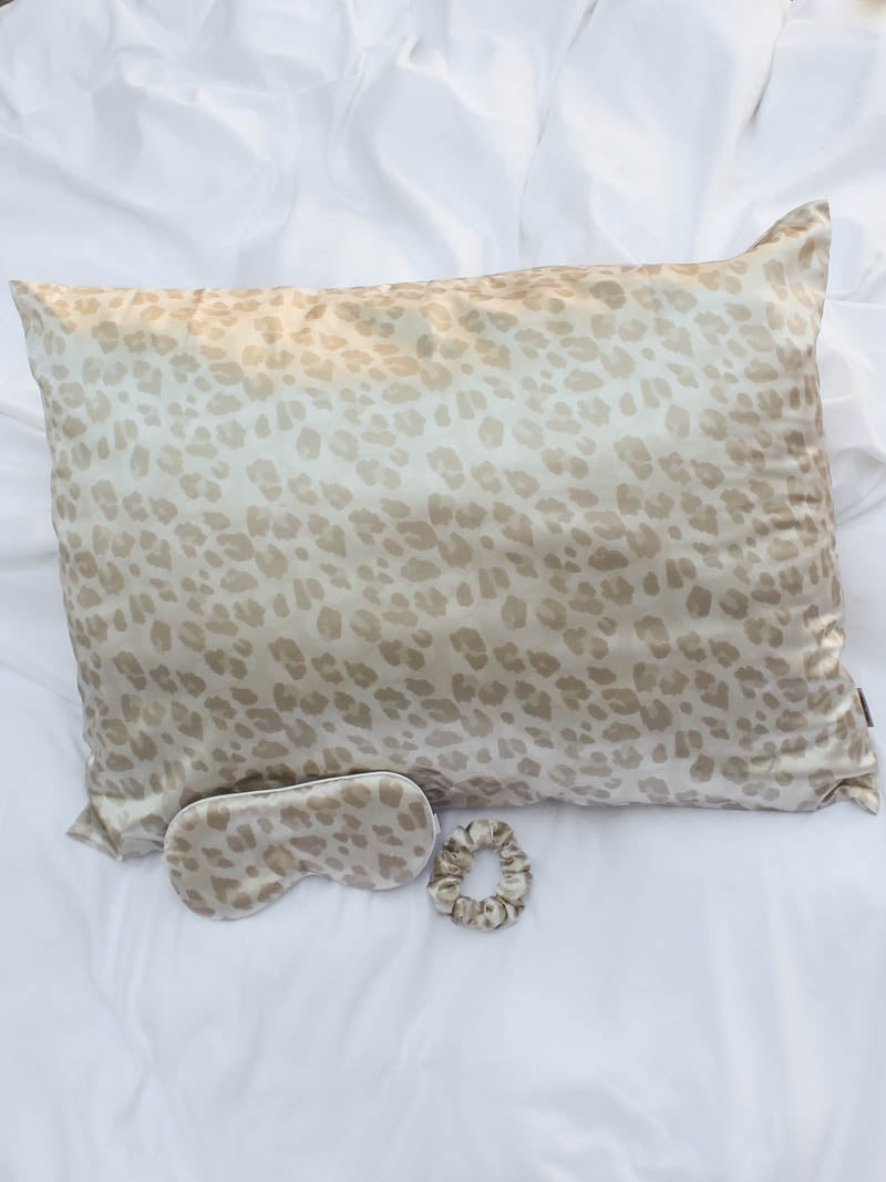 Leopard Satin Sleep Set by Kitsch