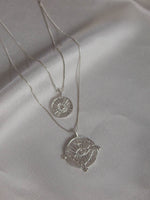 Silver Evil Eye Double Coin Necklace | Luv AJ