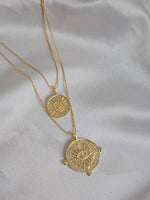 Gold Evil Eye Double Coin Necklace | Luv AJ