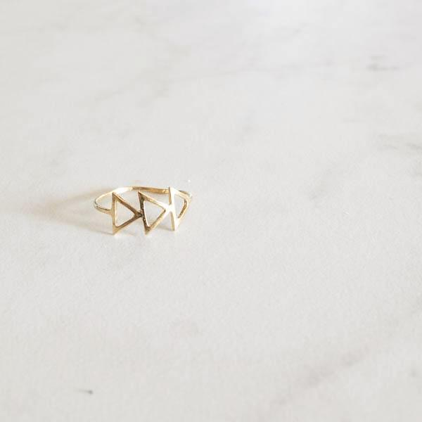 Ternion Ring | Geometric Ring by Pi Collection