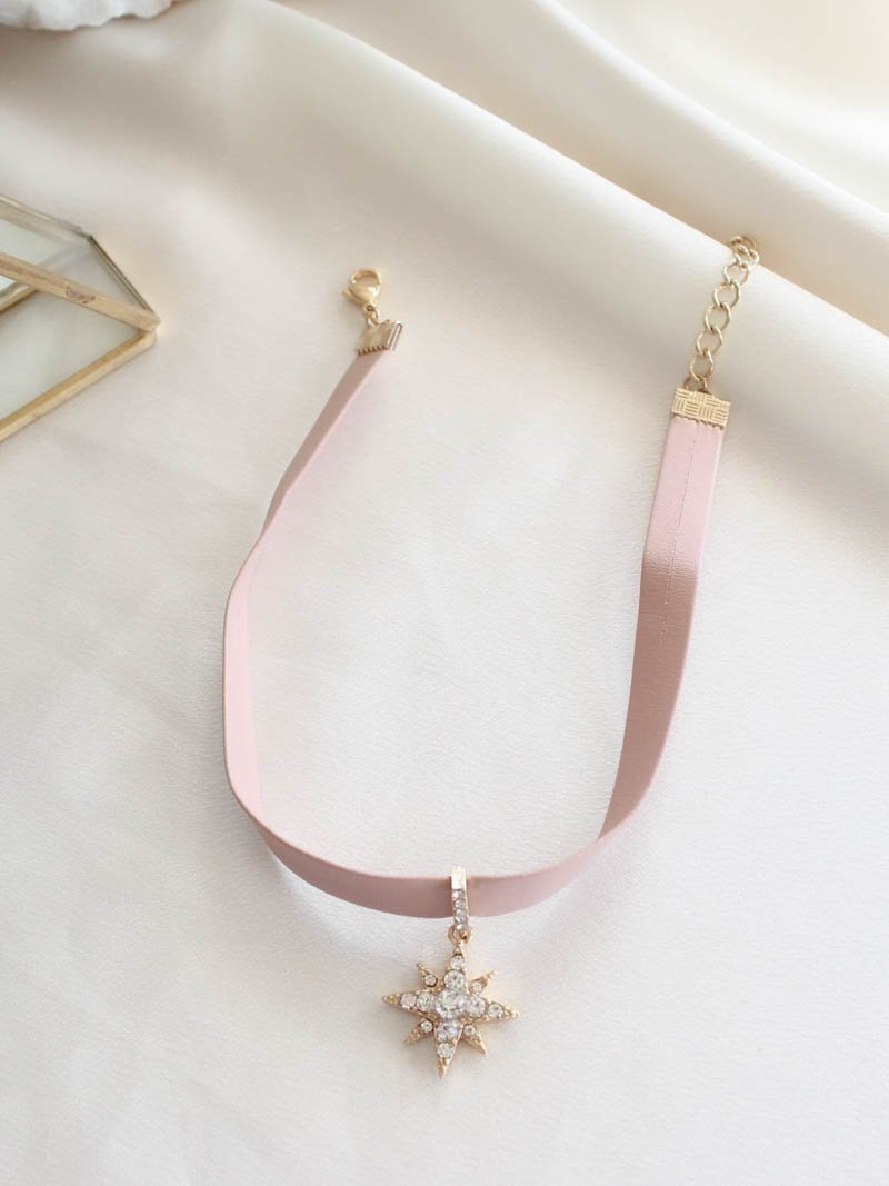 Pink Starburst Necklace . Ettika . The Obcessory