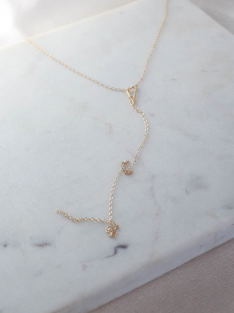 Dainty Gold Vermeil Lariat | Pi Collection