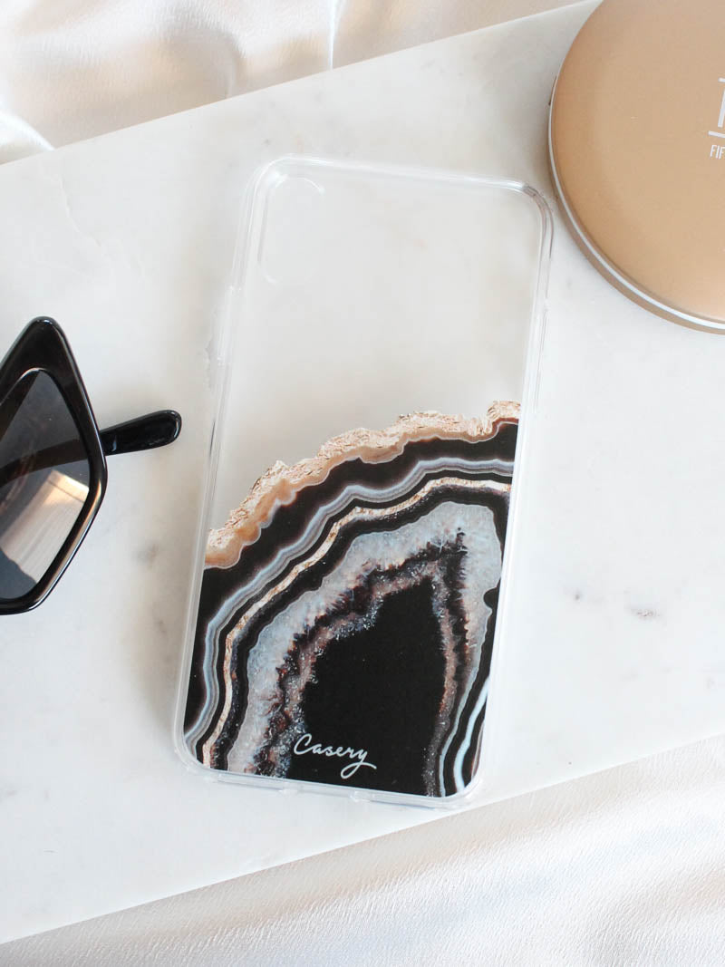 Black and Gold Agate Case | The Casery | The Obcessory