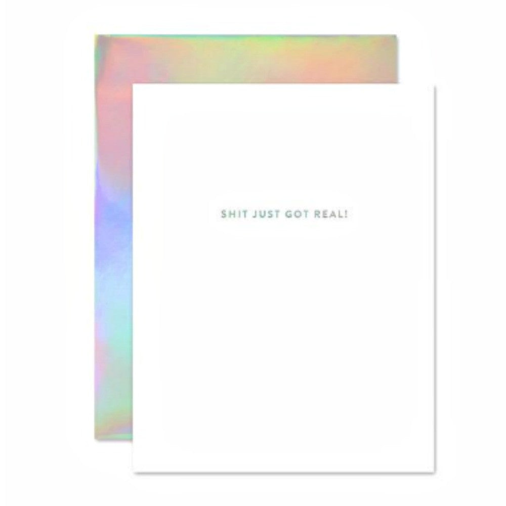 The social type whoa holla gram card the obcessory holographic greeting card the social type kristyandbryce Gallery