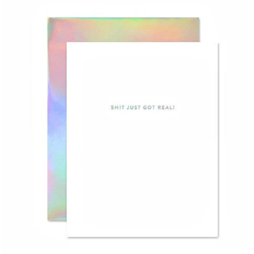 HOLOGRAPHIC GREETING CARD . THE SOCIAL TYPE