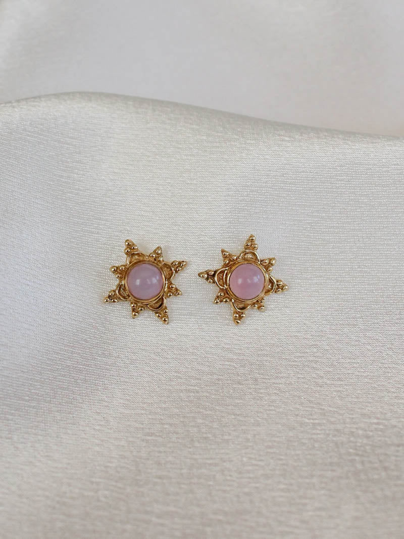 VAYU SUN STUD EARRING IN ROSE