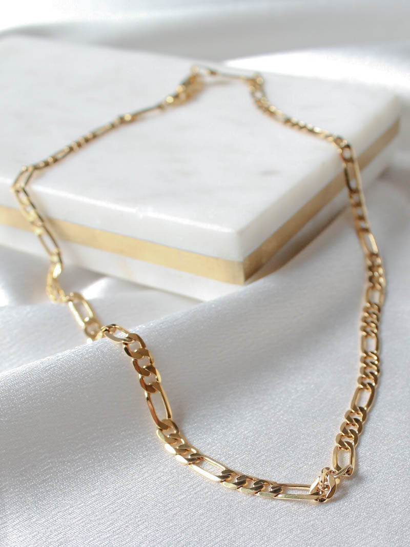 Gold Figaro Chain | The Obcessory