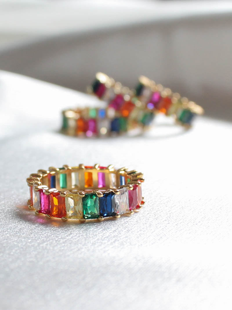 Mini Iced Rainbow Ring by Vibe Szn