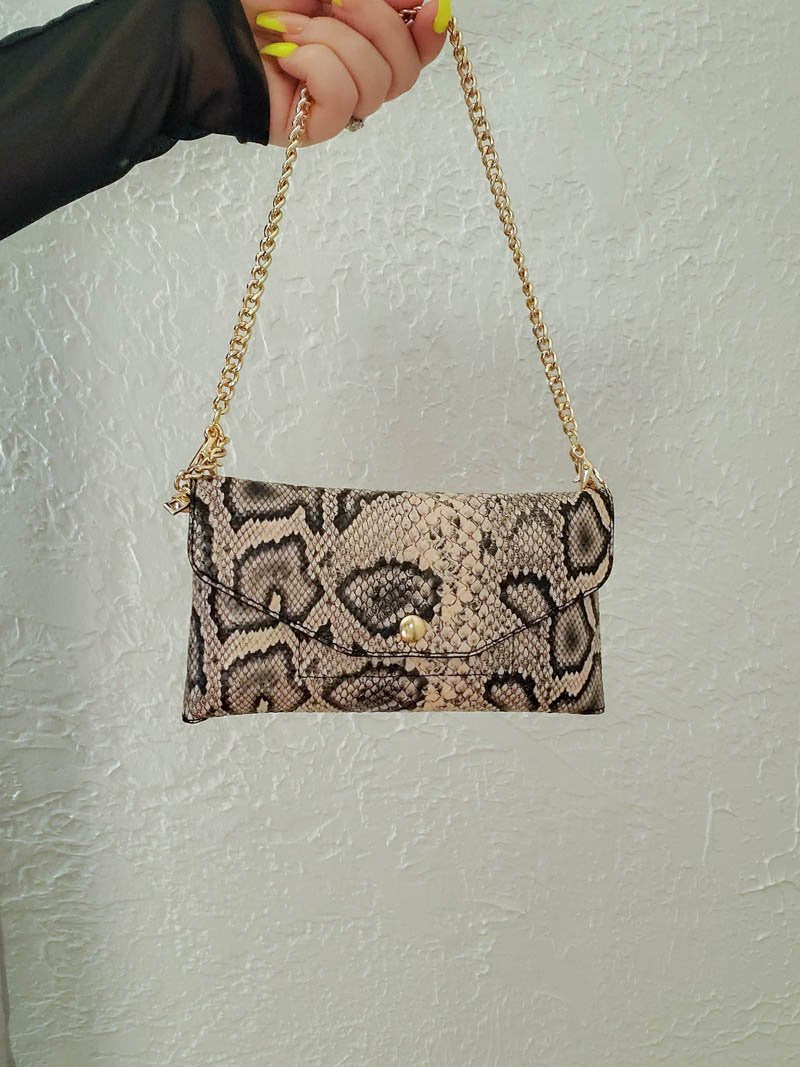 Convertible Snake Print Bag | The Casery