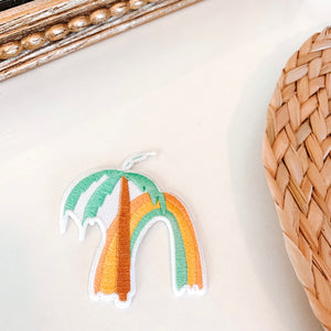 Rainbow Palm Tree Iron on Patch