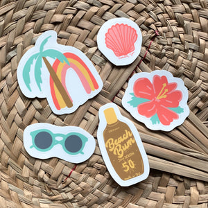 Beach Aesthetic Sticker Pack