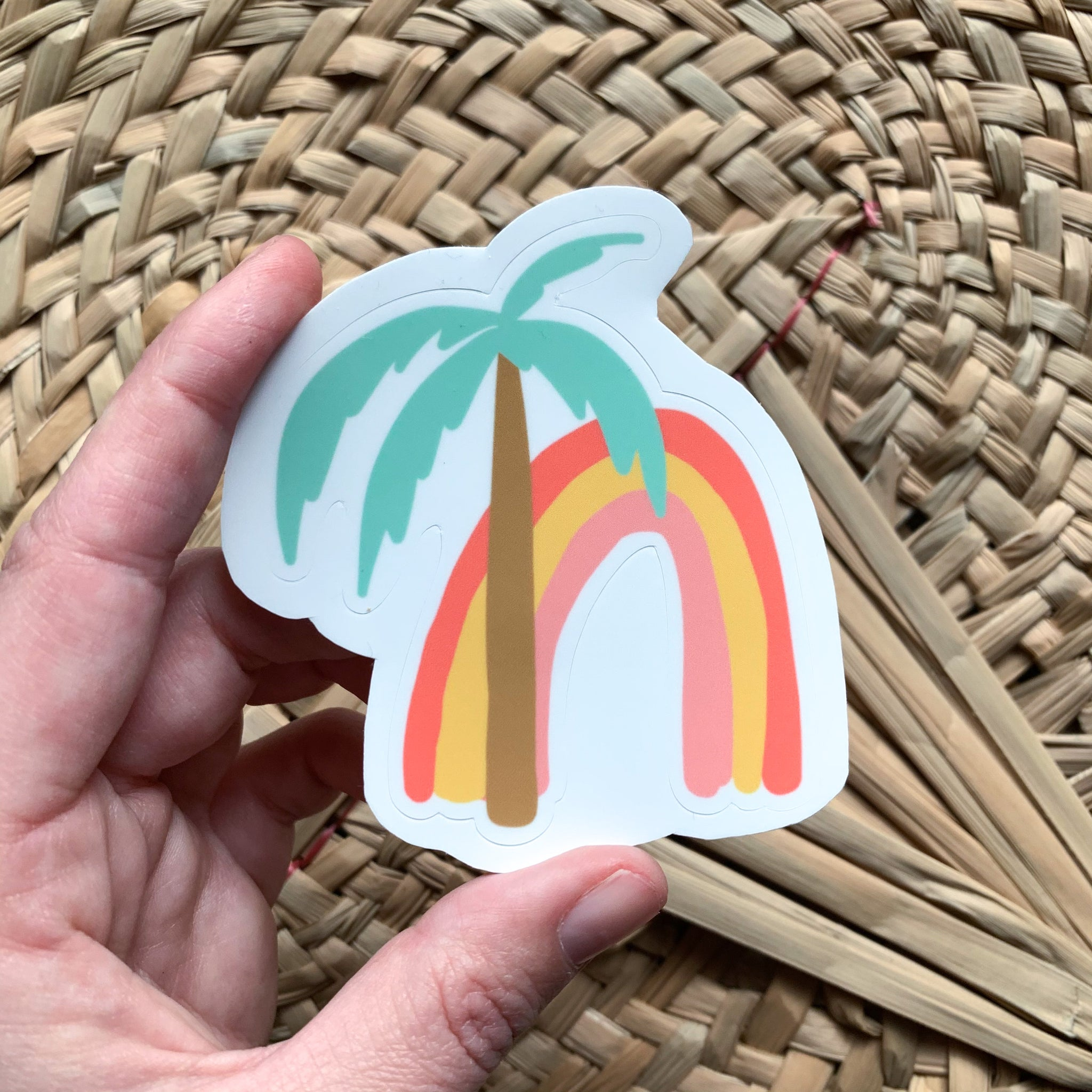 Rainbow Palm Sticker
