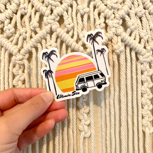 Sunset Van Sticker