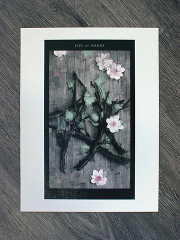 Fine Art Print of The Five of Wands